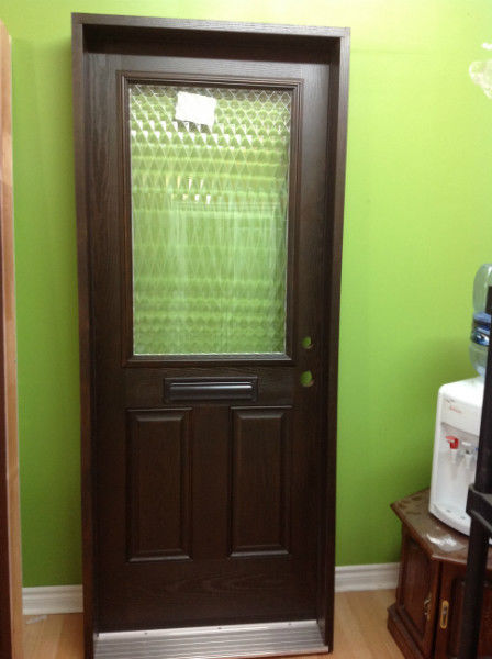 entry fiberglass door glass