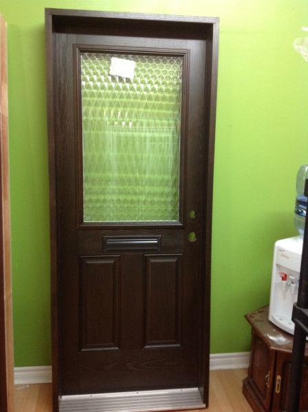 entry fiberglass door glass