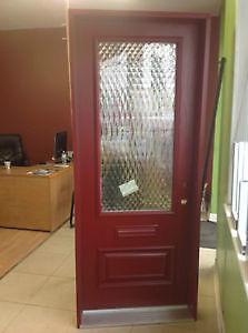 fiberglass entry door glass insert