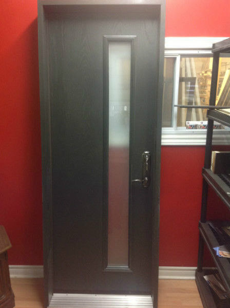 entrance steel door glass modern