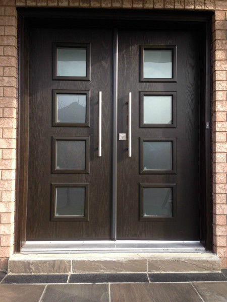 entry double door fiberglass