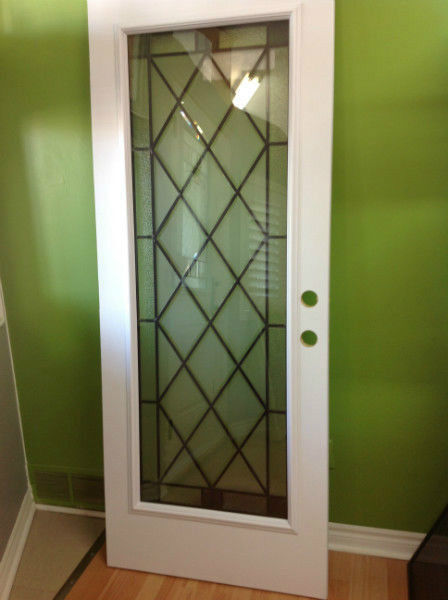 steel entry door glass