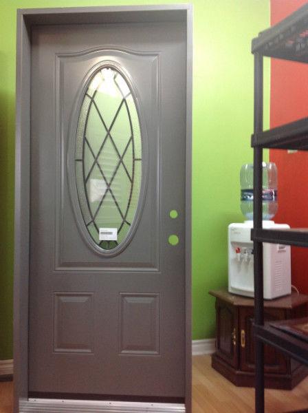 steel entry door with glass