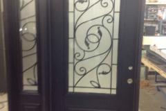 fiberglass door sidelite wrought iron