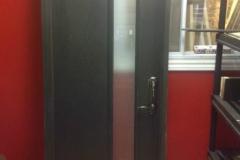 entrance steel door glass modern