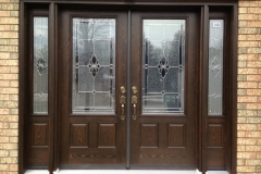 fiberglass double door 2 sidelites glass