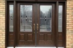 fiberglass double door 2 sidelites glass
