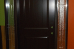 entry door steel 2 sidelites with glass