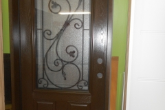 fiberglass entrance door wrought iron glass