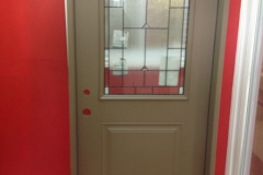 entrance steel door with glass