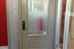 steel entrance door sidelite glass insert